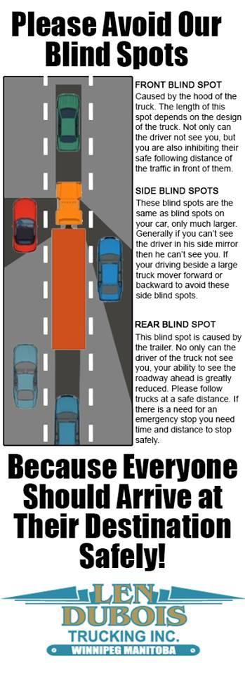 Stay Safe Around Semi Trucks Learn Where The Blind Spots Are Len