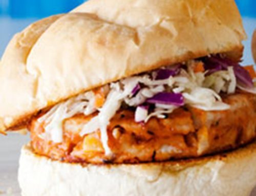 Mmmm… BBQ Chicken Burgers with Slaw