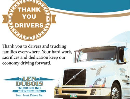 A big Thank You to our drivers & your families