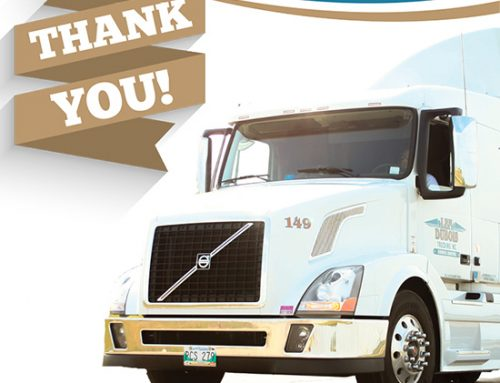 Thank You to the Len Dubois Trucking Support Team