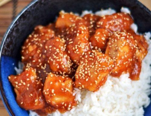 Honey Sesame Chicken Slow Cooked
