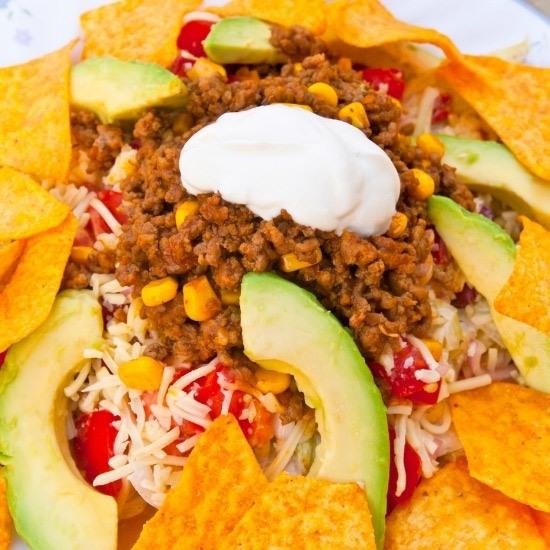 Taco Salad with Beef