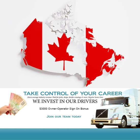 Canada Only trucking jobs